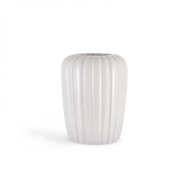 Eslau vase, a4, medium hvid, originalt dansk design og kvalitet