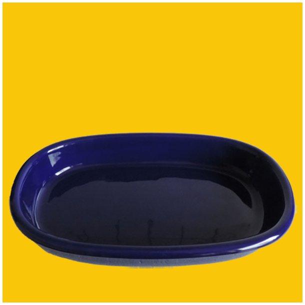 Ovnfast ovaltfad i koboltblå glasur