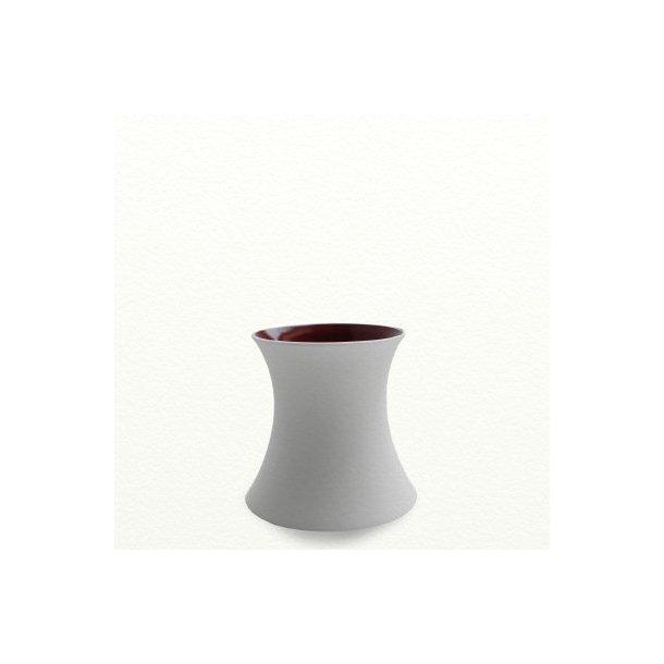 SILENCE vase, lav ,mokkabrun