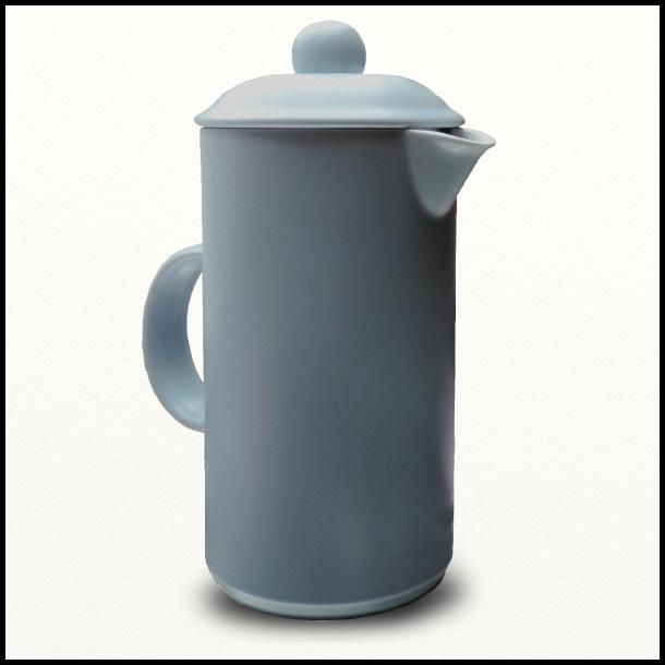 Stempelkande i dueblå porcelæn- Bornholm Serien - designet af Ejnar Poulsen